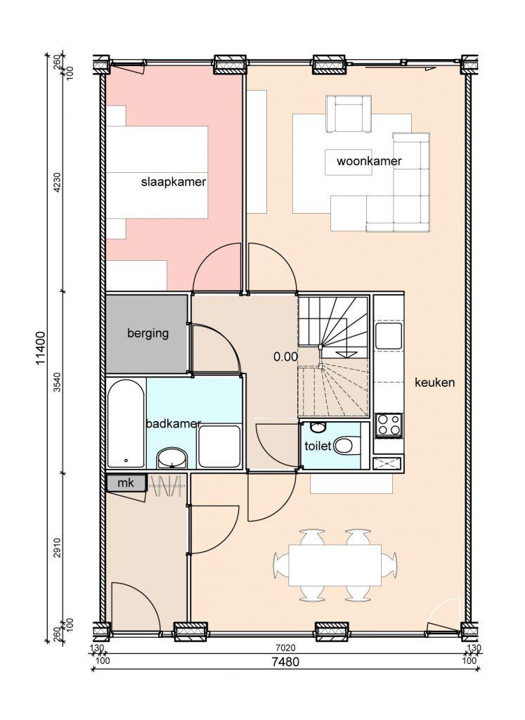 type-c2-randwoningen-slaapkamer-achter