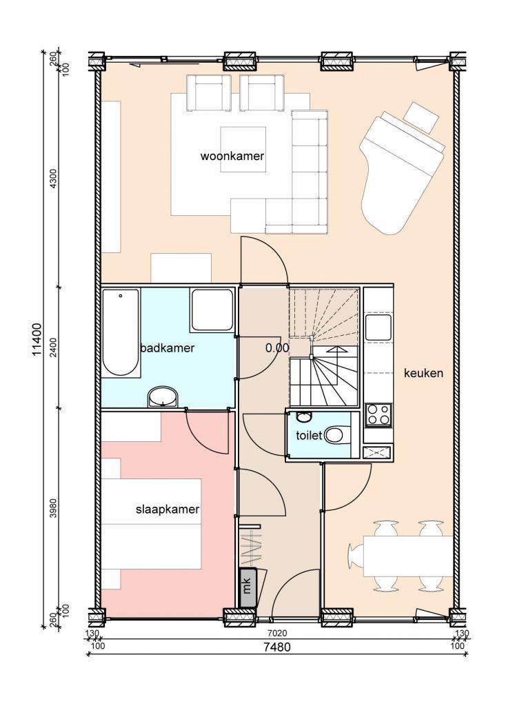 type-c2-randwoningen-slaapkamer-voor