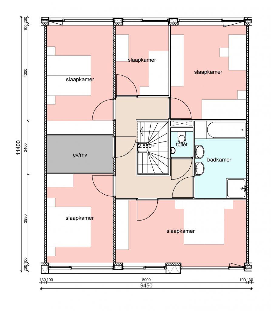 type-d2-randwoningen-eerste-verdieping