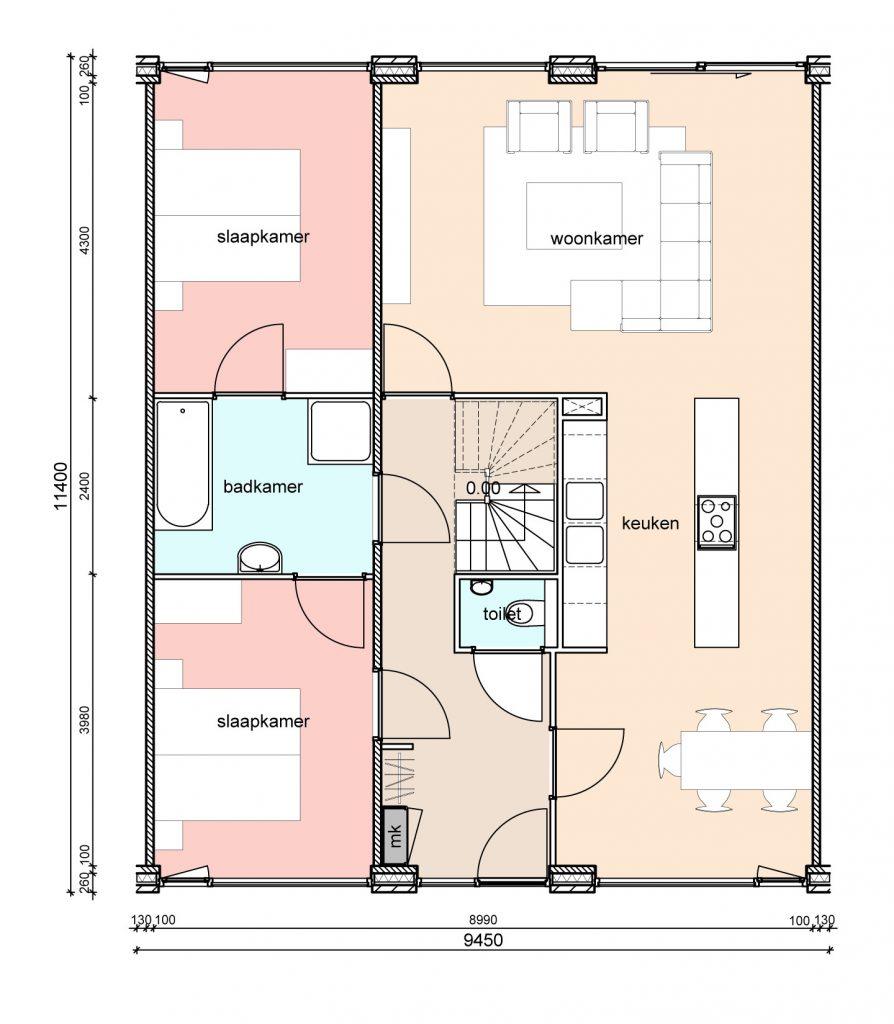 type-d2-randwoningen-twee-slaapkamers