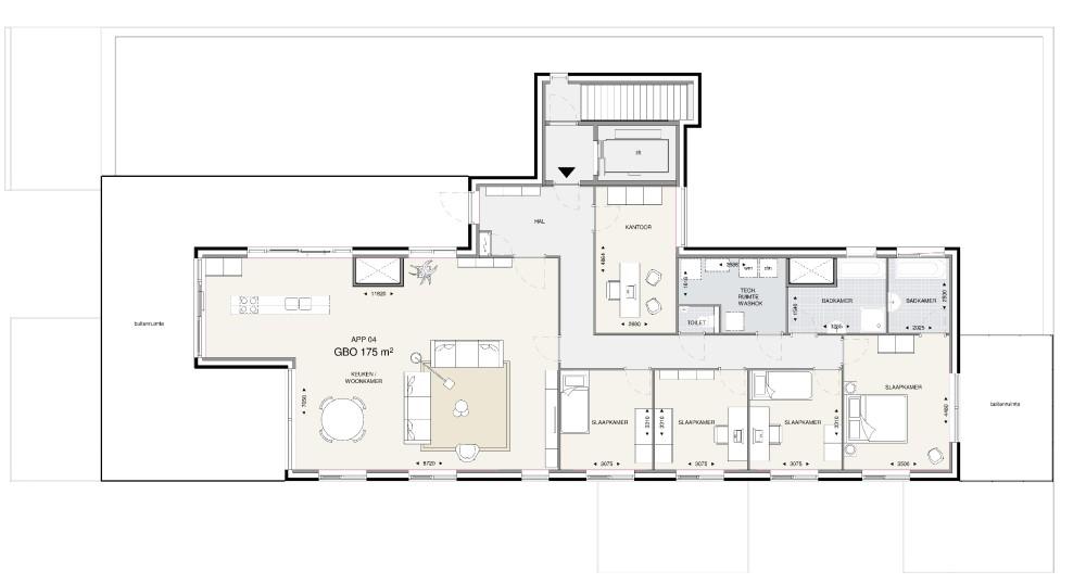 Appartementsgebouw 1 – Penthouse