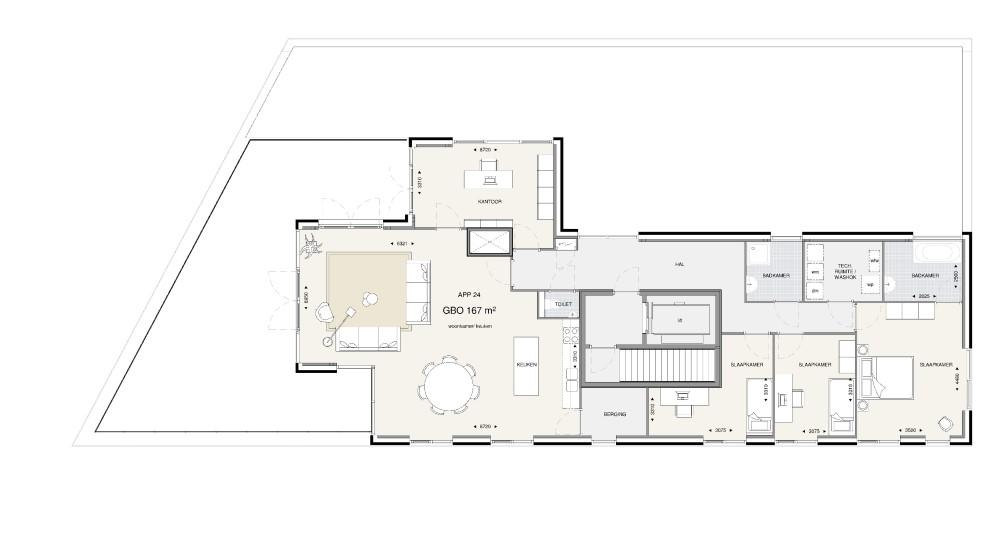 Appartementengebouw 2 – Penthouse