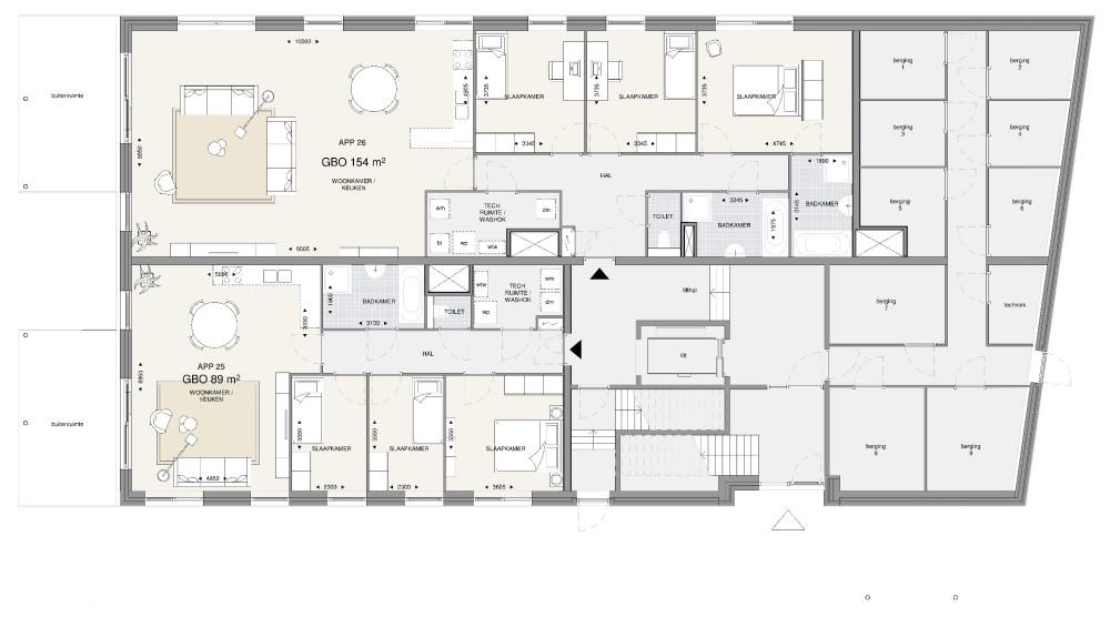 Appartementengebouw 3 – begane grond
