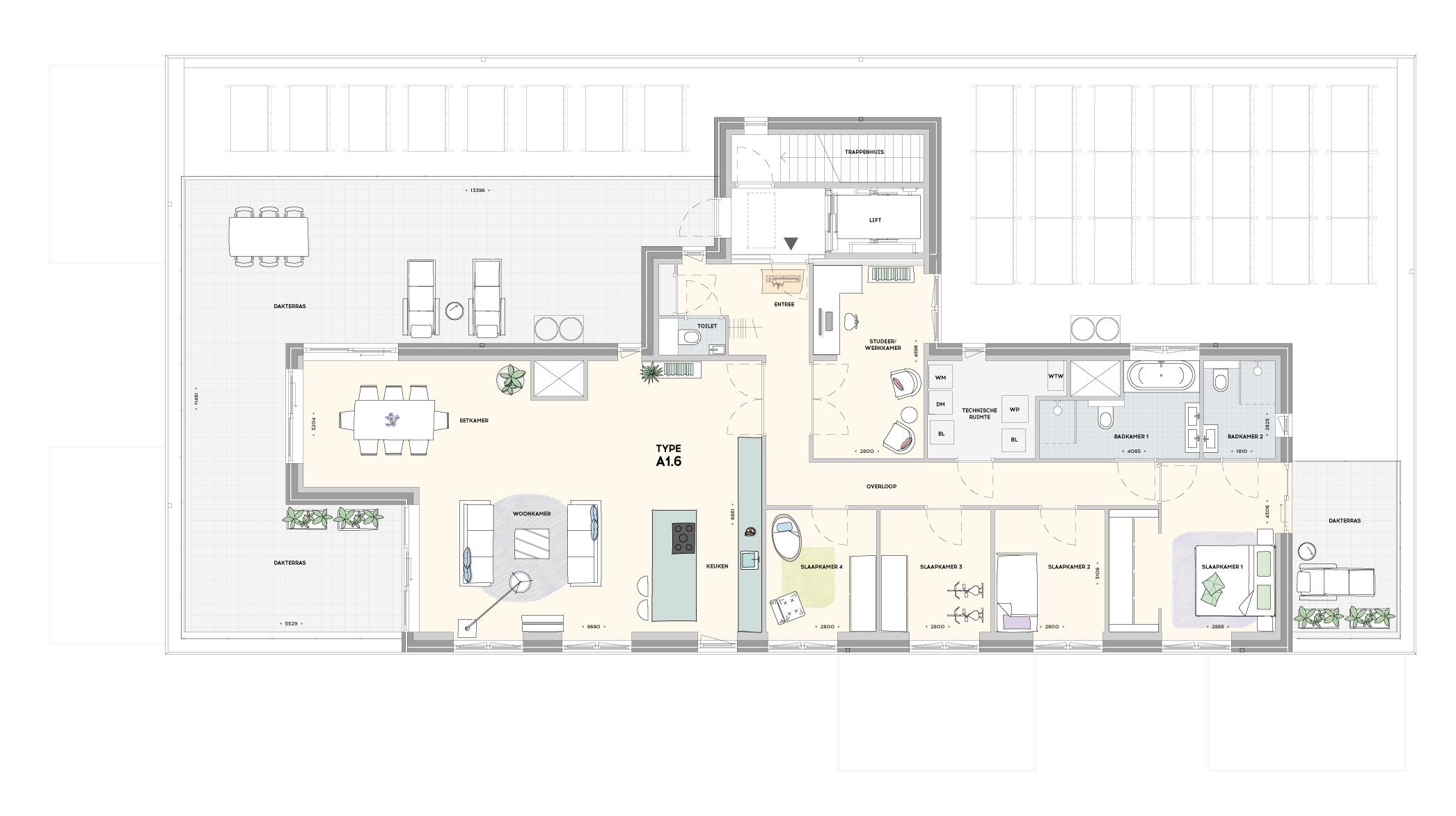 Gebouw 1 penthouse