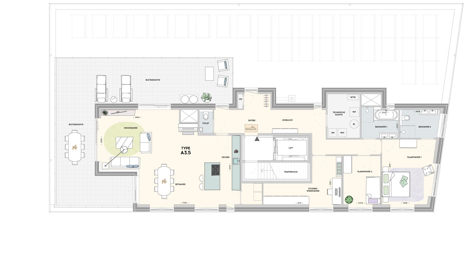 Gebouw 3 penthouse